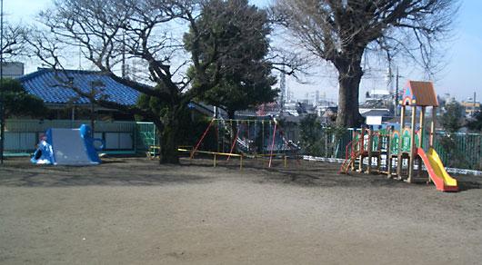 沼袋幼稚園 園庭